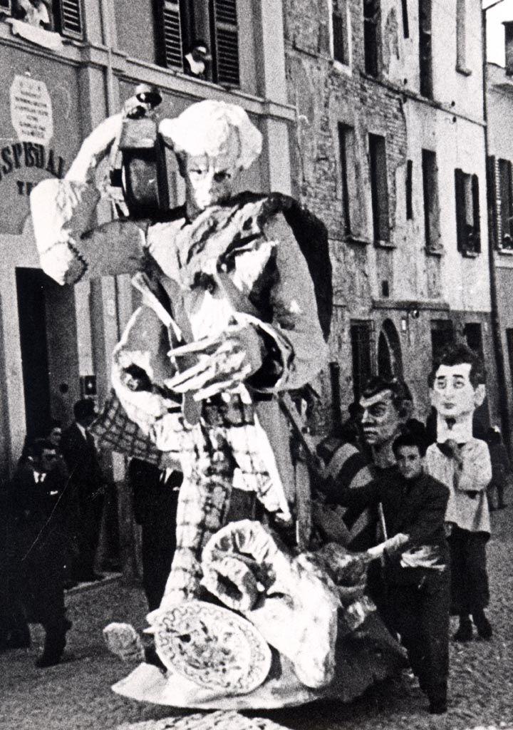 Autoritratto in forma di pupazzo pittore e musicista/Segavecchia 1954