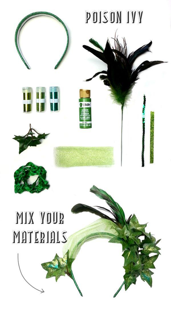 poison ivy headpiece DIY coco kelley
