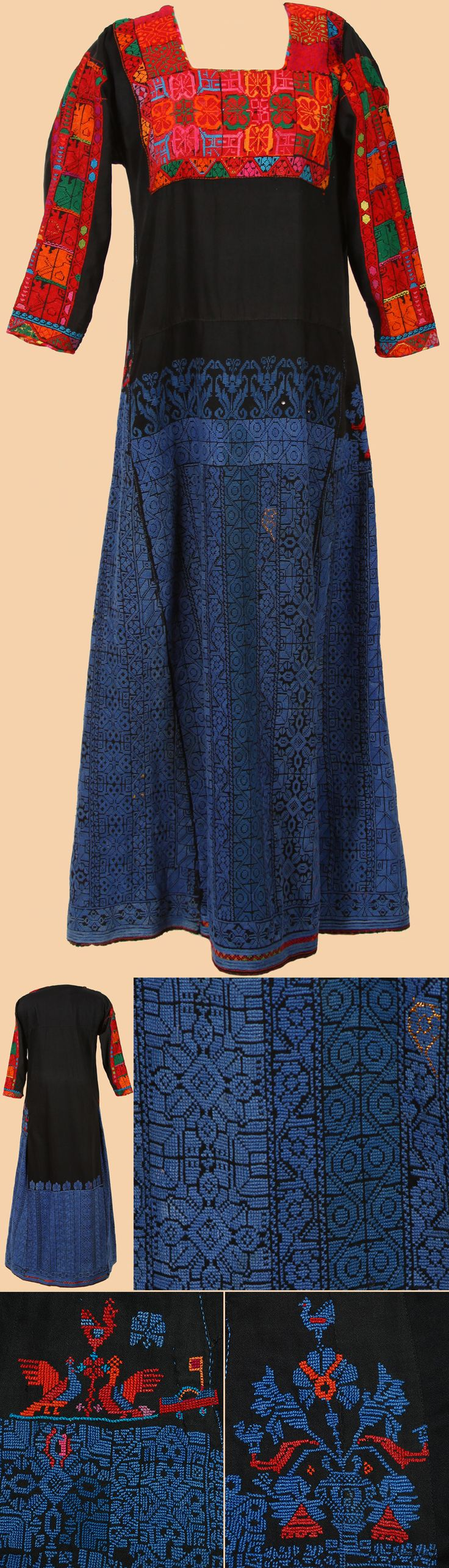 Palestinian embroidery dress and on