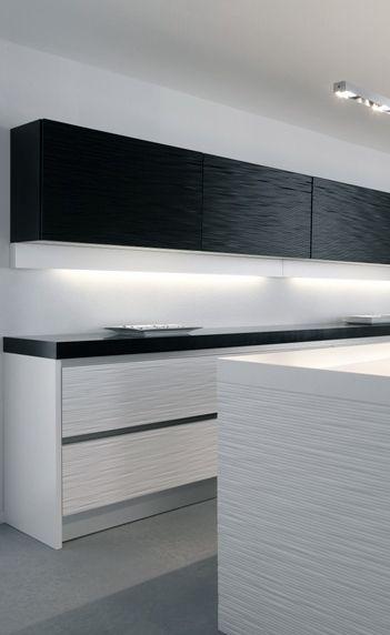 Monchrome minimal kitchen | Vébé Keukens