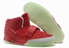 Nike Air Yeezy 2 Men Basketball Shoes in Red Brand Sport Shoes On Sale For