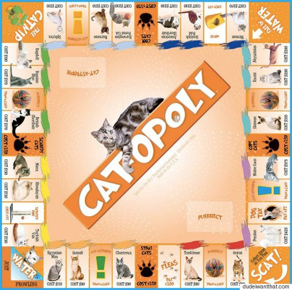 Cat Monopoly Is The Purrfect Christmas Gift For Moggy-Lovers
