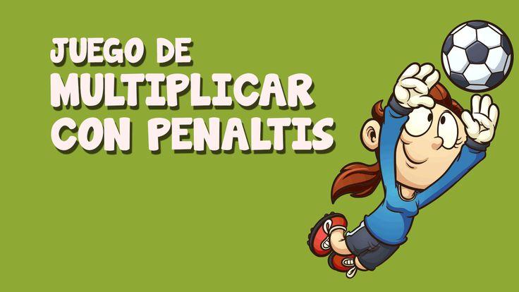 ¿Eres bueno con las multiplicaciones? Pon a prueba tus habilidades al tirar penaltis en este divertido juego de tirar penaltis para niños ¡Te encantará!