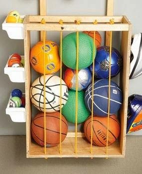 Garage ball - like the small baskets for smaller balls, etc. on the sides