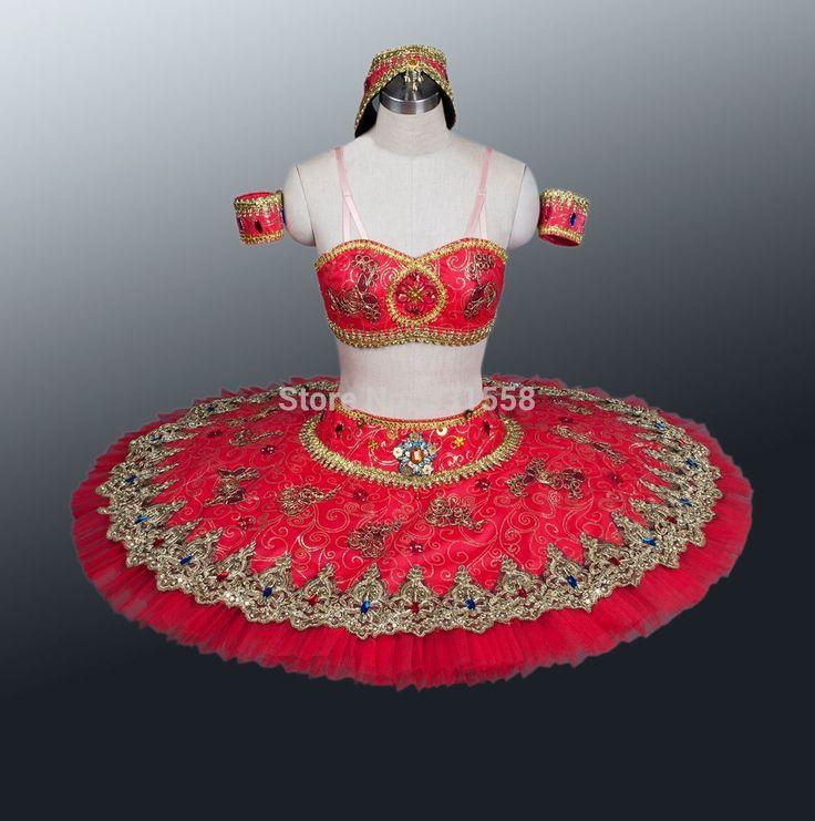Красный балетная пачка, Профессиональный классический балет пачки, Девушка пачка балетные костюмы, Взрослый балетная пачка для продажи