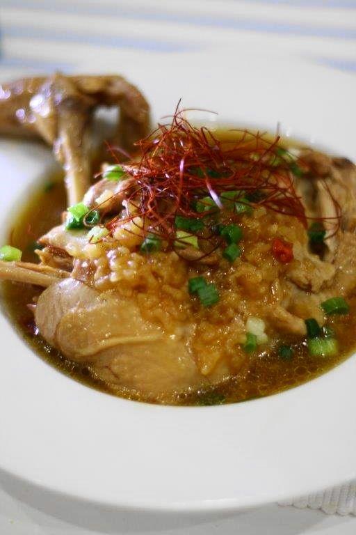 圧力鍋で作る骨付き鶏もも肉のごちそうサムゲタン1