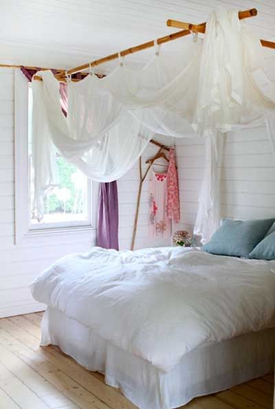 Decoración de dormitorios con bambú.
