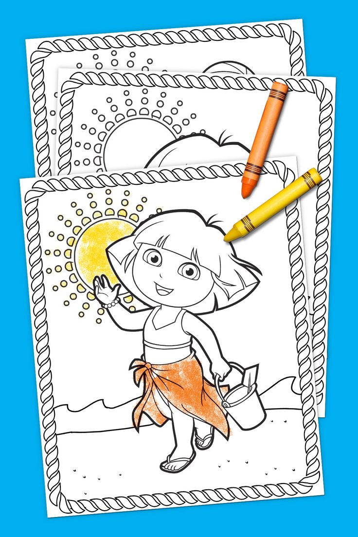 Dora Summer Coloring Pack - free printable