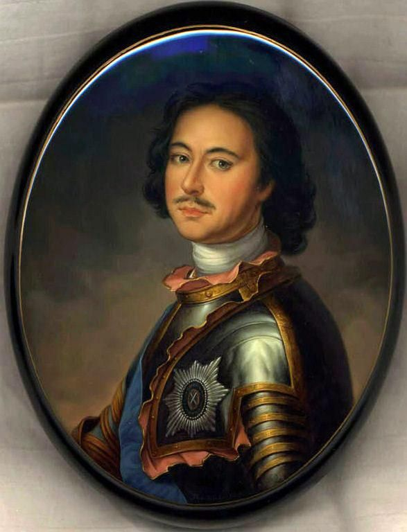 """Fedoskino. Russian Lacquer Art Titled """"Peter the Great"""" Artist Danshina"""