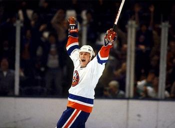 Mike Bossy, one of the greatest goal scorers in hockey history. New York Islanders, NHL, Hockey