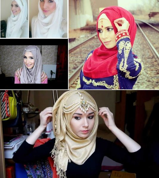 Whether you want to add a teeka or a chain to your look, these hijab tutorials with headpieces will show you how to accessorize your hijab.