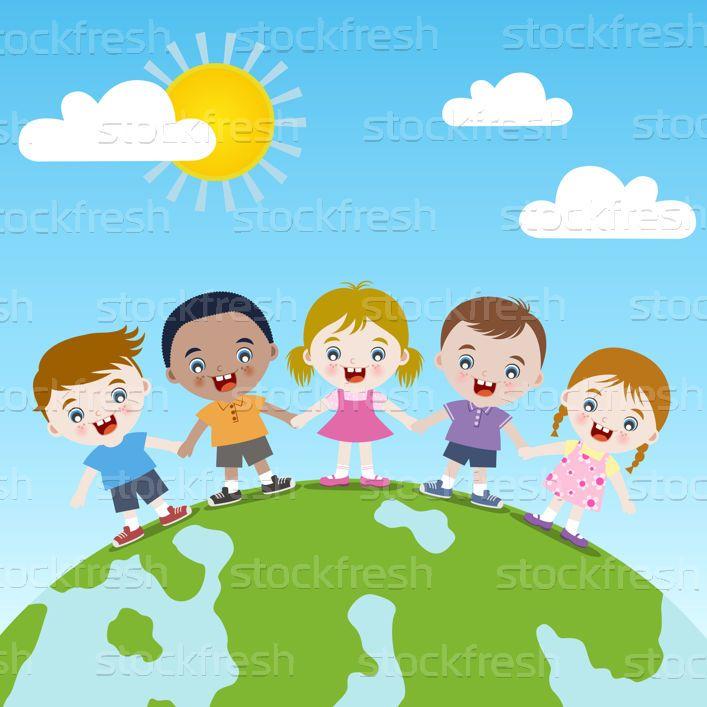 Monde · enfants · amour · heureux · éducation · voyage - illustration vectorielle © Sau Kit Lai (creative_stock) (#2278757) | Stockfresh