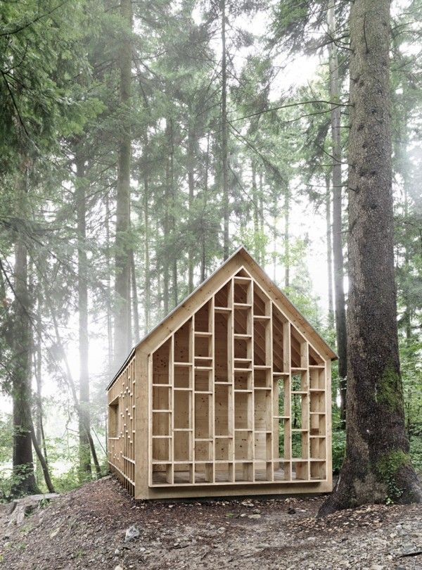 Forest Cabin by Bernd Riegger Offers Sanctuary in the Wild