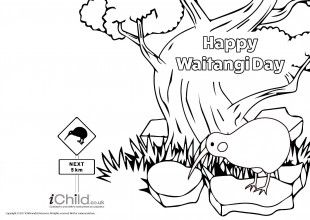 Children can colour in this card and give it to someone special for Waitangi Day. A lovely way to celebrate the land of New Zealand!