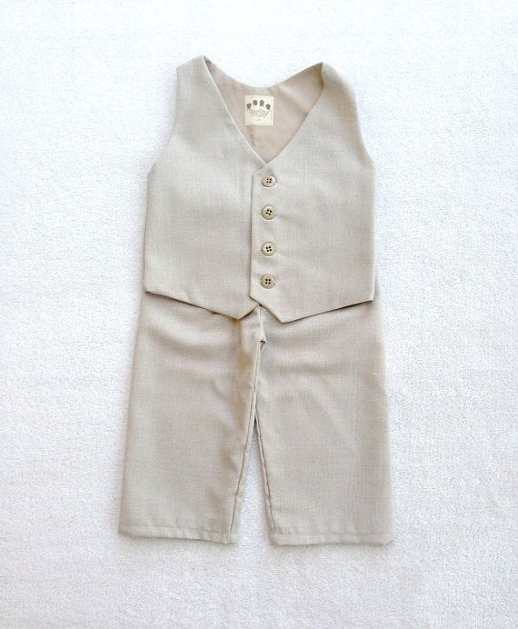 Ring Bearer Outfit Vest and Pants Ring Bearer by fourtinycousins