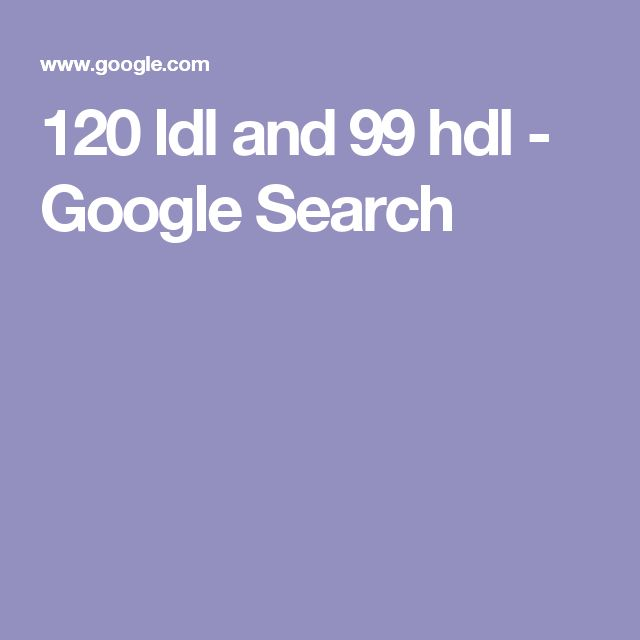 120 ldl and 99 hdl - Google Search
