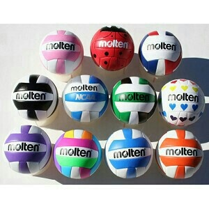 I bought the neon one second on the bottom the other day cuz it was pretty and it is amazing:) #moltenvolleyballs