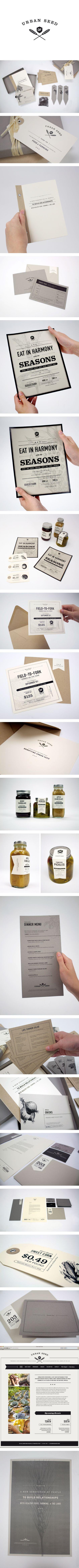 URBAN SEED_CAROLINE MORRIS...this branding is wonderful....especially the last poster