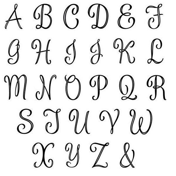Small Silver Monogram Letter Cake Picks
