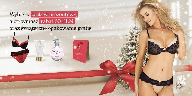 Zbliża się czas prezentów!  Od 21 listopada kupując zestaw prezentowy w Esotiq (bielizna + kosmetyk lub perfum + opakowanie) otrzymasz rabat 50 złotych!  Zapraszamy do salonu ESOTIQ w GH Sky Tower
