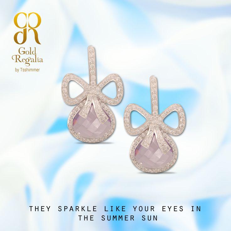 They sparkle like your eyes in the summer sun. : http://goo.gl/9MzBNm #WomensJewelry #ClassyJewelry #DiamondJewelry #DiamondEarring #EarringsOnline