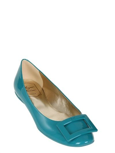 Just the perfect FLATS!!! ROGER VIVIER - GOMMETTE PATENT LEATHER FLATS - LUISAVIAROMA