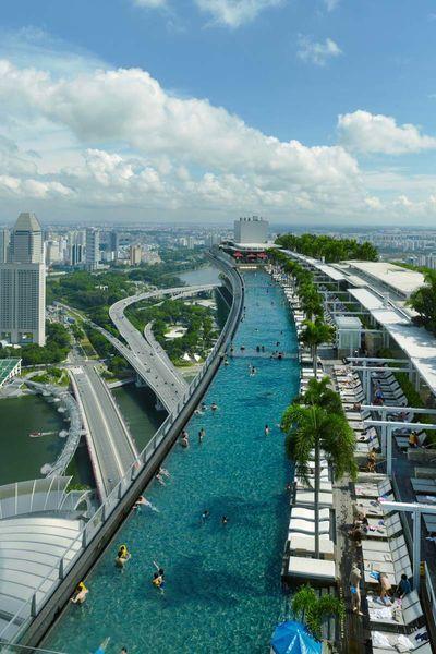 Singapore Hotel Mit Pool Auf Dem Dach