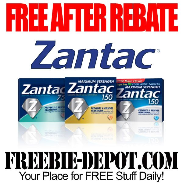 FREE AFTER REBATE – Zantac Heartburn Medicine - Exp 4/2/14