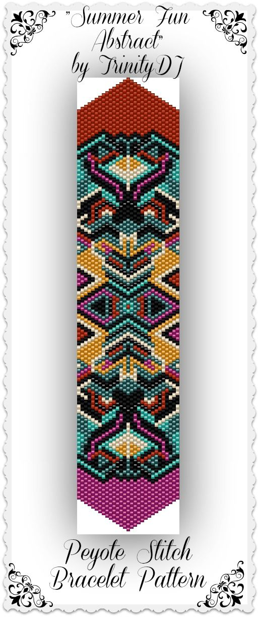 """Here's your chance to test bead new designs and earn DISCOUNTS on your next 'In the Raw' Design! New pattern listed in my Etsy shop: """"Summer Fun Abstract"""" - Odd Count Peyote Stitch Bracelet Pattern - One of a Kind In The Raw Design. Please follow this link for more info: https://www.etsy.com/listing/170577973/bp-pey-017-summer-fun-abstract-odd-count."""