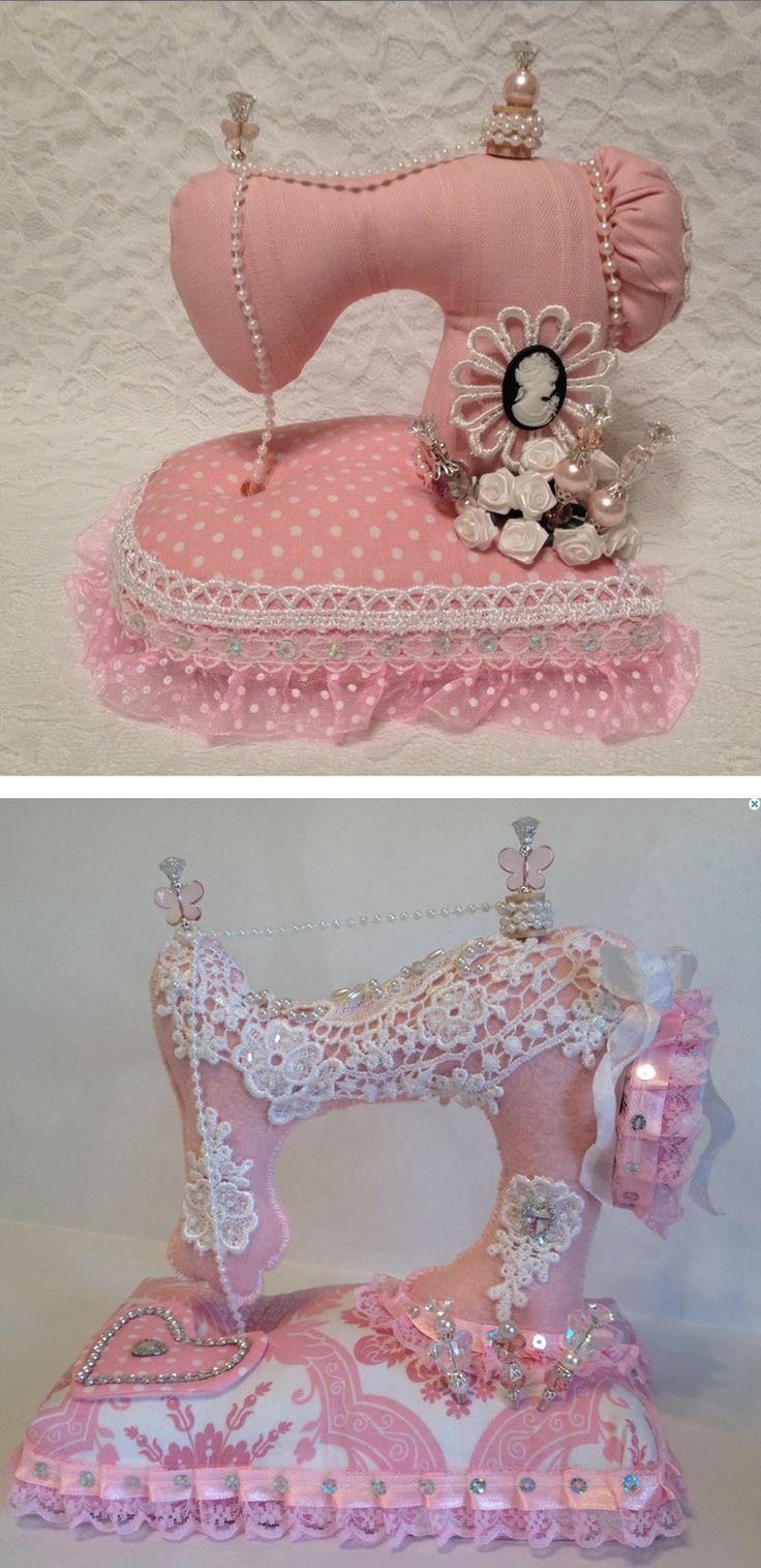 Sweet sewing machine pincushions! :)