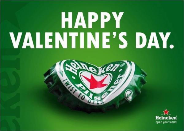 #newsjacking Heineken (Hart) #valentijnsdag