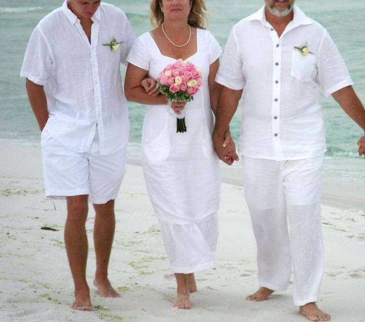 images of white linen wedding dresses on beach | Beachwear White ...