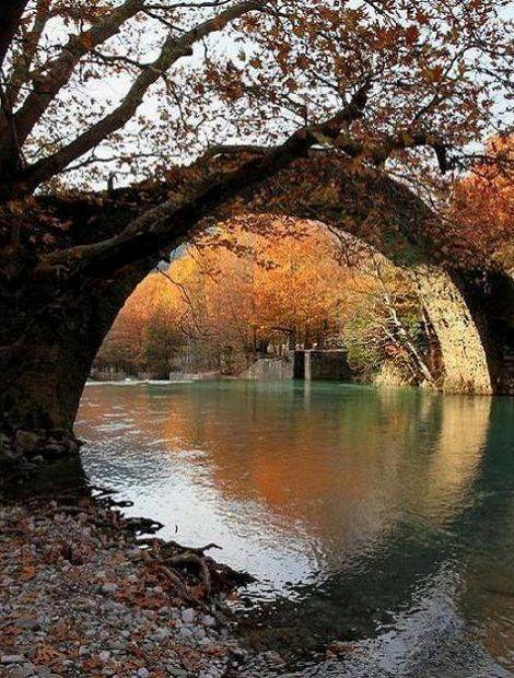 Bridge of Kleidonia (Voidomatis River), Vikos Gorge, Epirus, Greece