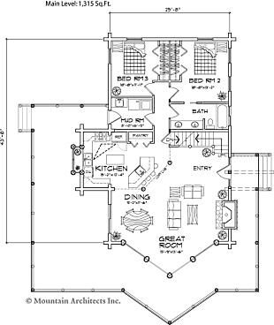 Best 25 cabin house plans ideas on pinterest cabin for Fishing cabin floor plans