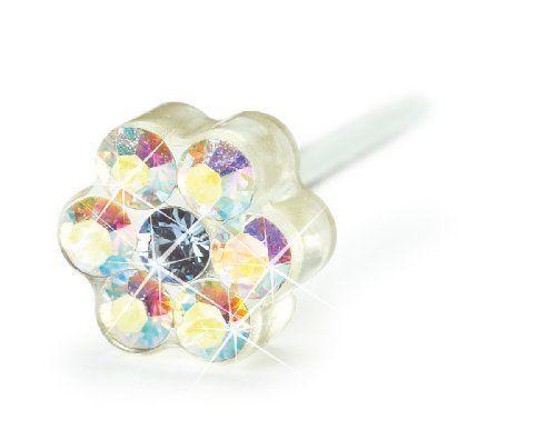 Blomdahl Medical Plastic Daisy, Rainbow Blomdahl. $35.00. Swarovski Crystals. Comfort Guaranteed. Dermatologist Recommended. Medical Plastic Earrings