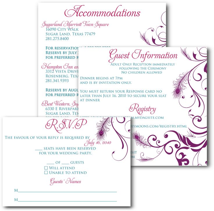 wedding invitations and inserts google search - Adults Only Wedding Invitation Wording