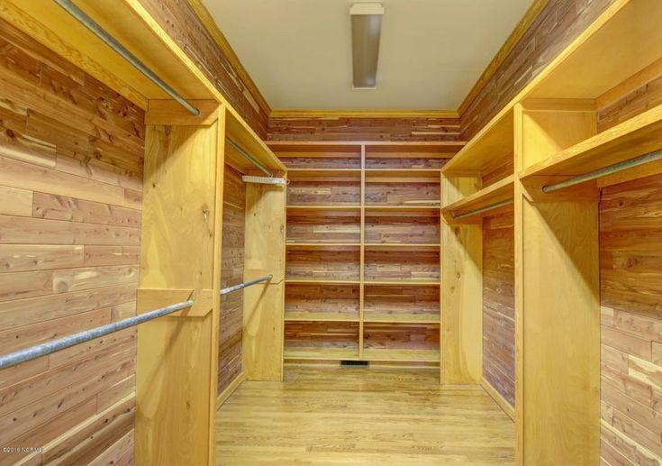 Rustic Closet with Built-in bookshelf, 1/4 in. x 2 ft. x 8 ft. PureBond Aromatic Cedar Plywood Project Panel, Hardwood floors