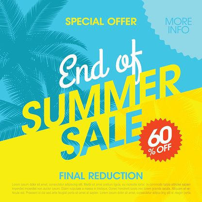 Vector Art : End Of Summer Sale banner