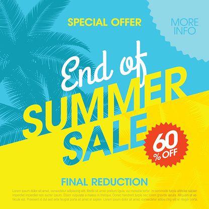 Vector Art : End Of Summer Sale banner