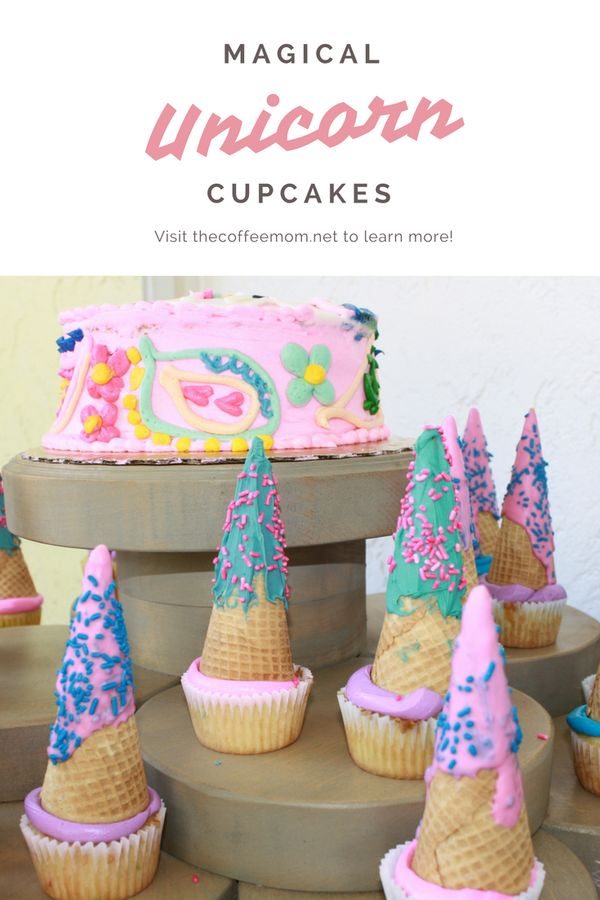 Simple Unicorn Birthday Cupcakes