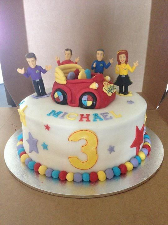 My son's birthday cake @Anthony_Wiggle @Lachy_Wiggle @Simon_Wiggle @Emma_Wiggle @TheWiggles #TheWiggles #WigglyParty