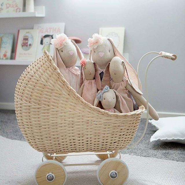 Cuteness alert 💗 watch out for these adorable doll prams on their way to @joshjennakids  in the next few days!  https://www.joshjennakids.com/toys-for-kids.html .  Delivery Worldwide . 📷@melplambeck . . . . .#dollstroller #dollpram #doll #cute #smallstuff  #cutekidsclub #wicker #toys #conceptstore #maileg #santaiscoming #christmasgifts #santa #imaginaryplay  #joshjennakids