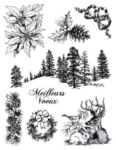 Winter scene clear stamp 10001314 by Artemio