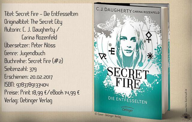 """Mit """"Secret Fire - Die Entfesselten"""" schreibt C. J. Daugherty einen soliden Abschluss der Dilogie. Gleichbleibende Action ohne nennenswertem Nervenkitzel, und tiefen Gefühlen machte den Finalband für mich zu einer riesen Enttäuschung. ~ abbauende Story ~ Thrill & Action vorhanden ~ ein Serienabschluss ohne Wums"""