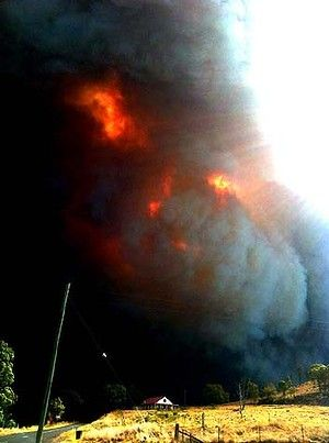 """""""I couldn't believe it"""" .... Mark Barrow was heading towards the Warrumbungle National Park when he saw this fire."""