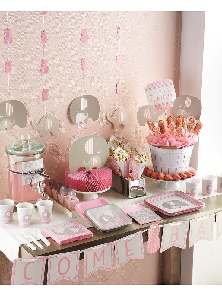 Little Peanut Elephant Baby Girl Baby Shower Range from Tiger Feet Party