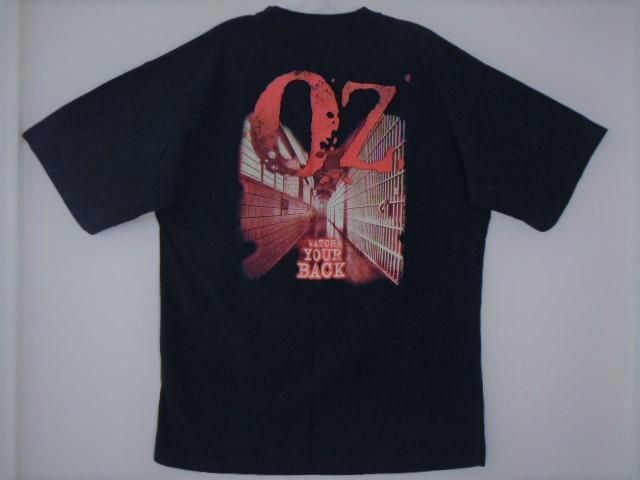 "VINTAGE 1990s OFFICIAL HBO SERIES OZ ""WATCH YOUR BACK"" FILM CREW PROMO ONLY PRISON CRIME DRAMA TV SHOW 2-SIDED GRAPHICS T-SHIRT #HBO #OZ #TV #Prison #GraphicTee #VintageTee #VintageShirt #Memorabilia #Collectibles #1990s #Merchandise #Apparel #PROMO"