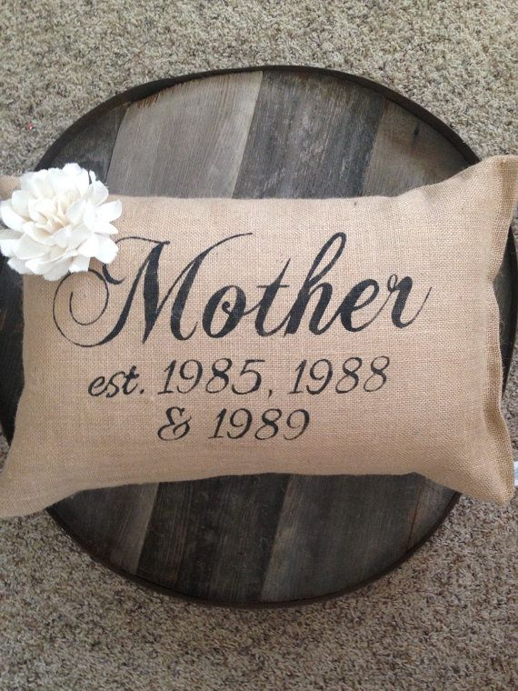 Mother's Day gift personalized Mother's Day by burlapheartstrings