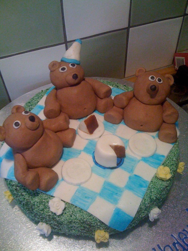 Teddy Bears Picnic 1 year old Birthday Cake