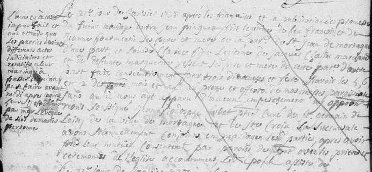 AM nul - Mortagne-au-Perche, 1738 - AD61